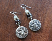 Royal Crest Antique Assemblage Earrings