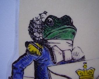 Frog-Footman Invitation Bookmark