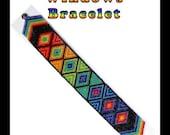 Rainbow Windows Bracelet Bead Pattern Chart INSTANT DOWNLOAD