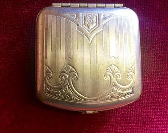 MERMAID TREASURE - Solid Perfume in Vintage Victorian Art Nouveau/Art Deco Collectable Powder Compact-