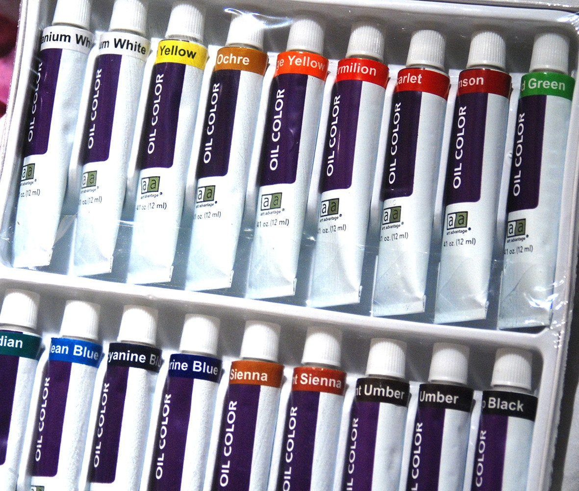 Painting kit oil painting supplies oil paint set for Canvas painting supplies