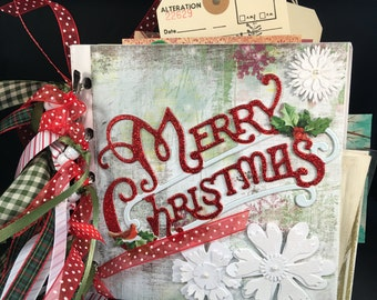 Christmas Mixed Media Paper Bag Album: LOADED!