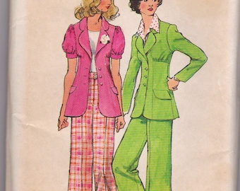 Vintage 1973 Sewing Pattern, Ladies size 16 Jacket and Pants Simplicity 5642