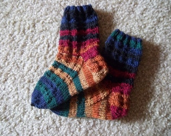 Socks for Toddler - Handknitted Socks  - 4-6 Years - Size 8 - 8 1/2  US Children