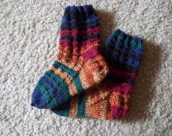 Socks for Toddler - Handknitted Socks  - 4-6 Years - Size 8 - 8 1/2  US Children