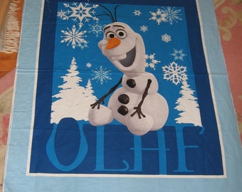 Frozen Panel Olaf Snowman Cheater Quilt Wall Hanging Winter Adventure Story Snow Banner Nap Mat Play Mat