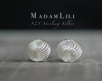 "925 Silver Mini Ear Studs ""Infinity"""