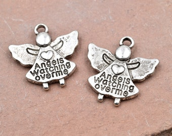 Angel Charms, 25 pcs, 17mm,  Angels Watching Over Me - C299