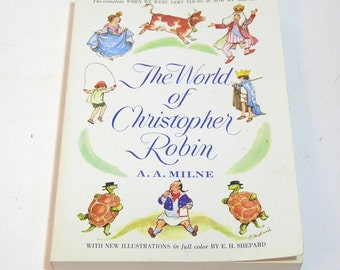 The World Of Christopher Robin By A. A. Milne, Vintage Book