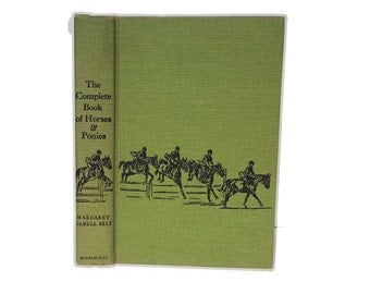Hollow Book Safe The Complete Book of Horses and Ponies Cloth Bound vintage Secret Compartment Box Hidden Security Box