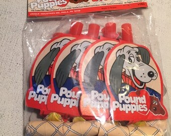 Vintage Pound Puppies blowouts- NIP-1986-Tonka Co