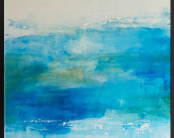 Breathe In The Ocean - Abstract Acrylic Painting - 24 x 24 - Modern Contemporary Fine Art