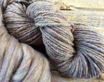 Handspun yarn - Aran - heavy worsted weight  - handmade - luxury wool - crocheting - knitting - gift for knitters - yarn shop - gray wool