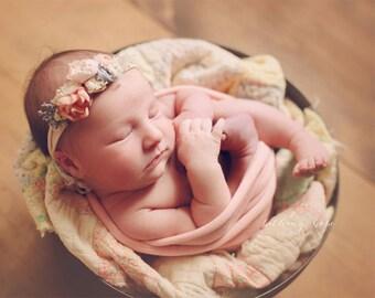 Stretch Knit Wrap - Newborn Wrap - Baby Wrap - Vintage Pink - PLUSH WEAVE Knit Wrap - Photography Prop -