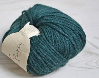 Knitting  yarn, Destash yarn, dark green yarn, Aran weight, Y166