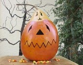 Halloween Gourd Large Jack O Lantern Ghost Top Primitive Pumpkin Decoration