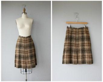 Vintage Wool 60s Skirt | 1960s Wool Skirt | Vintage 60s Skirt | 60s Wool Skirt | Vintage Plaid Skirt