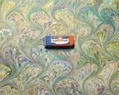 """マーブル紙, hand marbled paper,  19,5"""" x 27,3"""" -  cm 50 X 70  - 882"""