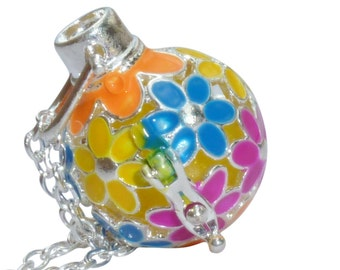 YOur perSOnal STYlish Essential oil necklace diffuser Steampunk summer flowers  d1 0