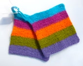 Pot holders felted wool pot holders multi colored set of two