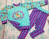 Size 2/3 pretty pony top and leggings
