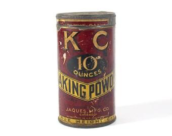Antique KC Baking Powder Tin Can