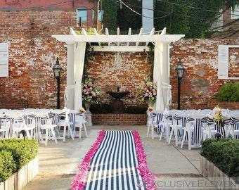 Black and White Stripe Aisle Runner Stripe Fabric Wedding Isle Runner Ceremony Decoration Stripe Wedding Decor Modern