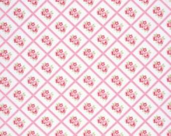 Pink Lulu pwtw095PINK  Cotton Fabric by Tanya Whelan FreeSpirit Lulu Roses
