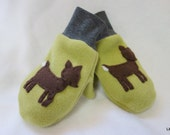 Oh Deer Child Mittens, 1-3 years, Ready to ship