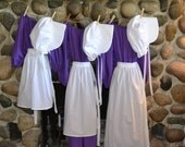 Girls Colonial Dress Costume Civil War Pioneer Prairie -New