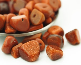 100 - Goldstone Chip Beads - 24 Grams - 100% Guaranteed Satisfaction