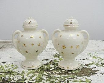 Vintage Urn shaped salt and pepper shakers