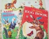 SALE - 2 Vintage bunny books, Golden Books, rabbit, 1970s