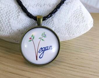 Vegan Pendant, True Vegan Necklace, Cruelty Free Jewelry, Vegan Jewelry