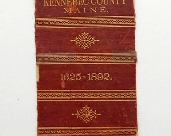 Vintage Leather Book Spine 1893