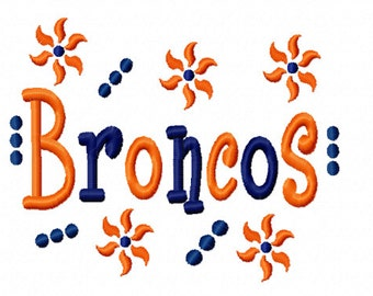 Broncos Applique Machine Embroidery Design 4x4 7x5 10x6 Colorado Denver Team Instant Download Basketball Football Baseball Soccer Sports