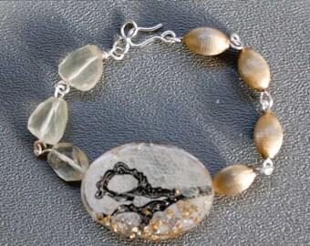 Antique Scissors Resin Bracelet