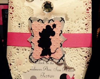 Minnie Mouse Tea Party invitations