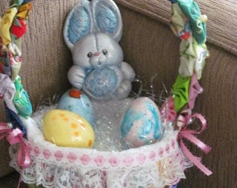 Hawaiian Yoyo Easter Basket with Ceramic Eggs by Marianne of Maui