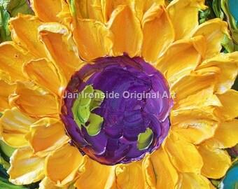 Home Decor , Painting Original , Sunflower, Canvas