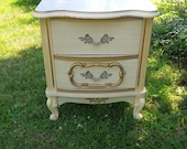 RESERVED French Bedside Tables Vintage Poppy Cottage Custom Painted Furniture