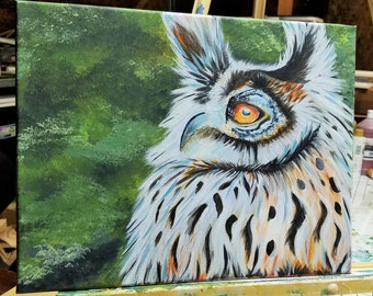 Hand Painted - Mr Owl - Painting