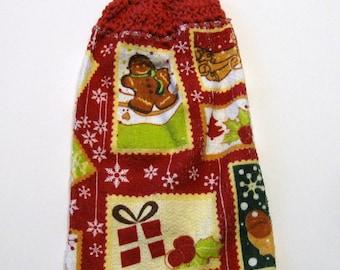 Gingerbread Man, Hanging Towel, Kitchen supplies, Hostess Gift, Handmade by NormasTreasures