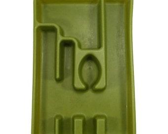 Rubbermaid Cutlery Tray Drawer Organizer Flatware Tray Avocado Green