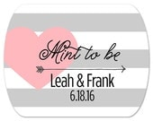 """Personalized Wedding Favor Stickers - Mint to Be - Custom Favor Tin Stickers - Rounded Rectangle Labels - Mint Tin Stickers - 2"""" x 1.6"""""""