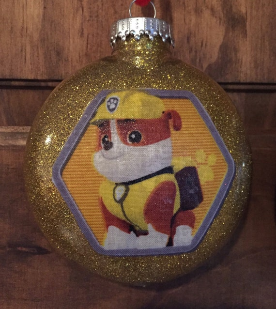 Rubble Paw Patrol Christmas ornament