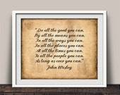 Do All You Can Tea Stained Christian Quote Art Print