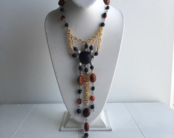 STATEMENT neclace recycled vintage eco friendly / one of a kind