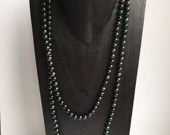 CLEARANCE SALE - Black Pearl Necklace    (No. 2)
