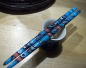 Turquoise Moon color acrylic Hair sticks you pick length.